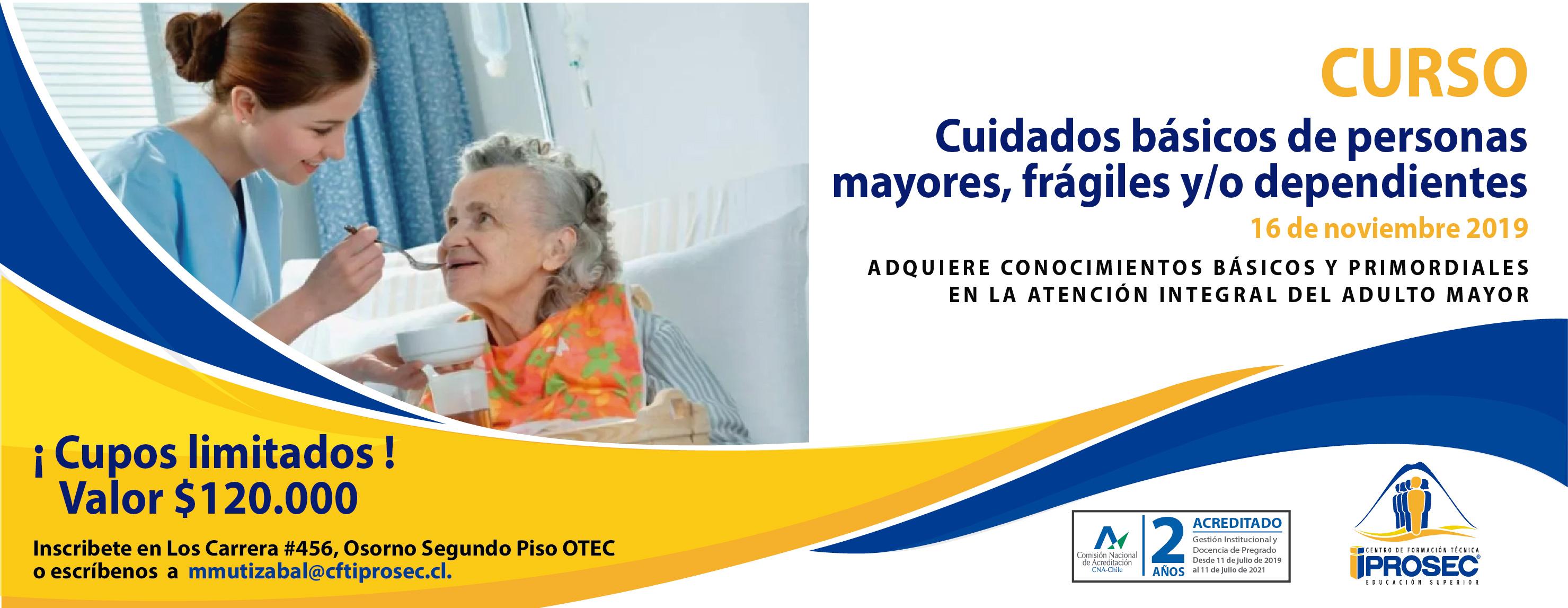 Curso Cuidados básicos de personas mayores, frágiles y/o dependientes