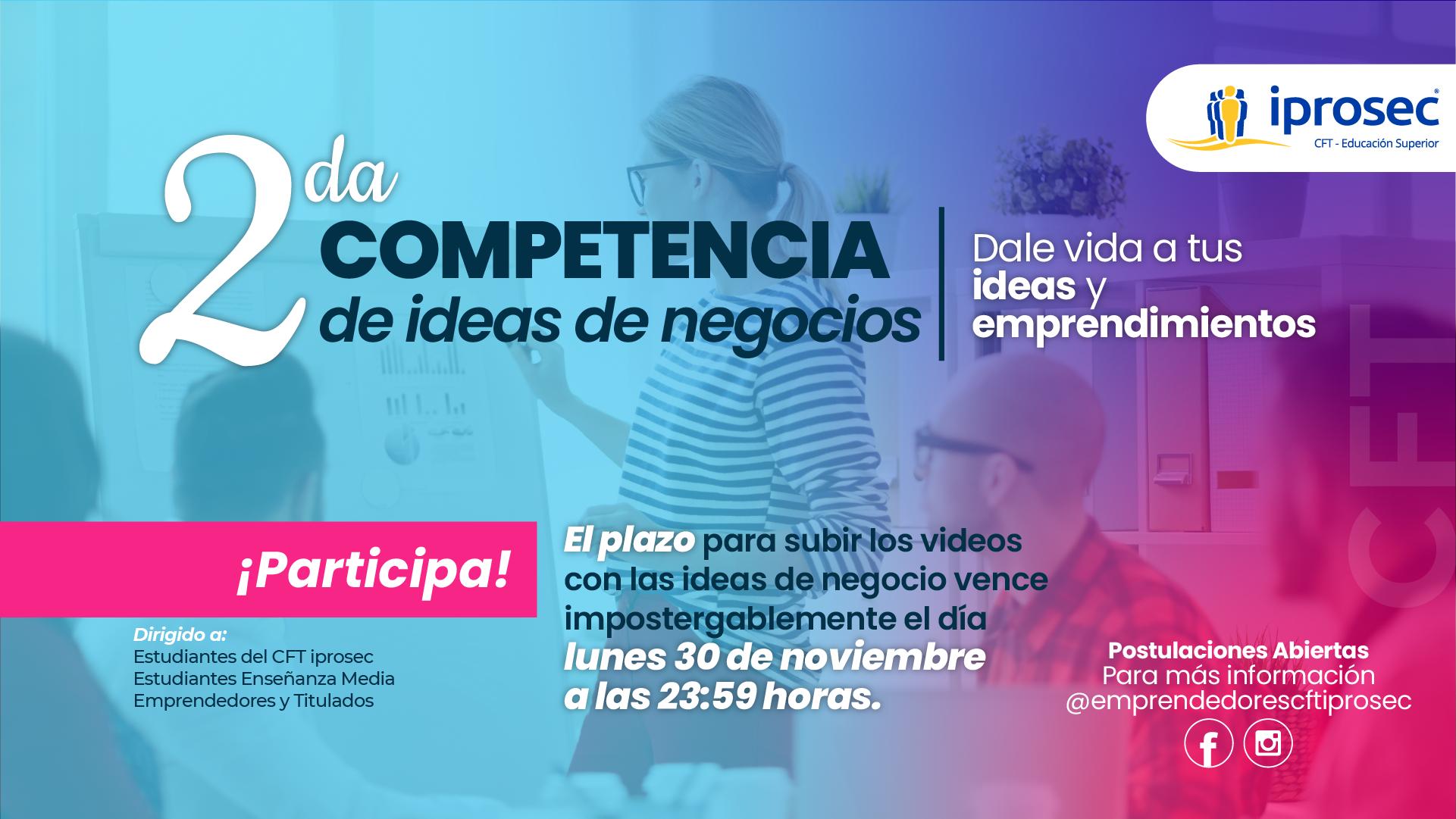 ¡Te invitamos a participar! 2da Competencia de Ideas de Negocio