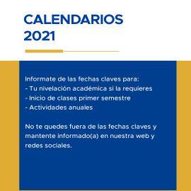 Calendario Académico y Vinculación con el Medio