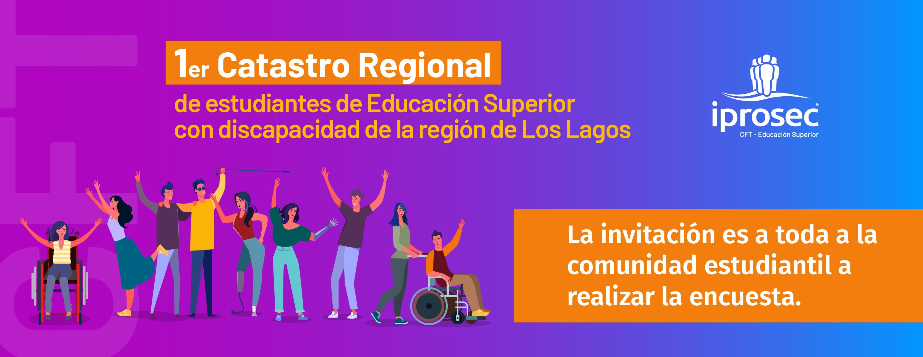 1er Catastro Regional de estudiantes de Educación Superior con discapacidad